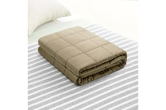 Giselle Bedding 5kg 100% Cotton Weighted Blanket Gravity Relax Sleep for Adult Deep Touch Pressure Simulation BROWN