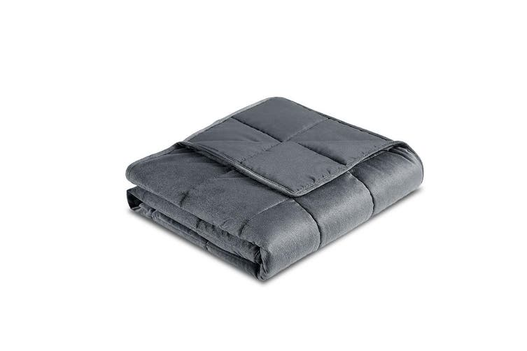 Giselle Bedding 9KG Weighted Blanket 100% Plush Cover Minky Deep Relax Calming Adult