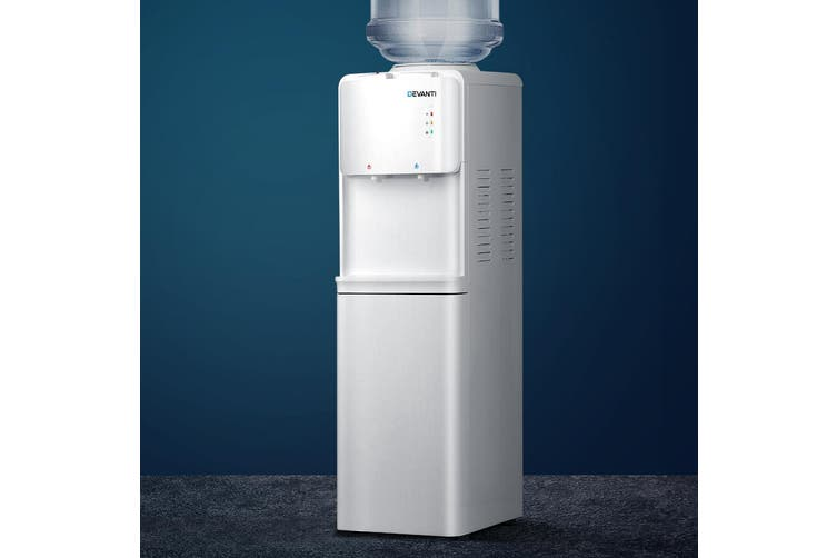 Devanti Water Cooler Dispenser Stand Bottle Stand Hot Cold Taps Freestanding Kitchen Office White
