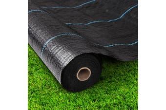 Instahut Weed Control Mat 3.66 x 30m in Black Woven Gardening Plants Weedmat