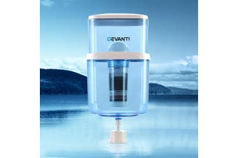 Devanti 22L Water Purifier Container Bottle  6 Stage Filtration Purifier with Spare Filter Cloth