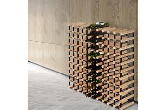 Artiss 110 Timber Bottle Wine Rack Storage Bottles Premium Display Shelf Wooden
