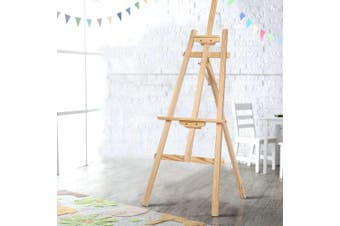 Artiss 147cm Foldable Easel Pine Wood Art Display Painting Shop Tripod Stand Wedding