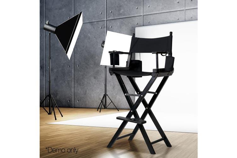 Artiss Professional Tall Director Chair Makeup Artist Movie Wood Camping Folding