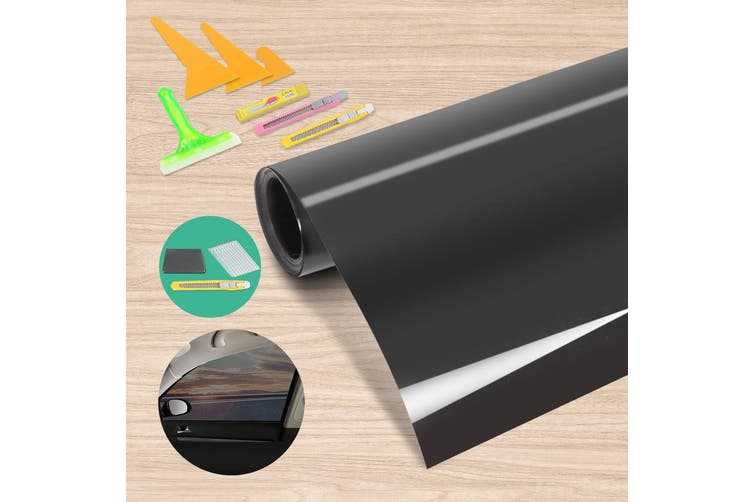 Giantz Window Tint Film Black Roll 35% VLT Car Home House 100cm X 30m Tinting tools Kit