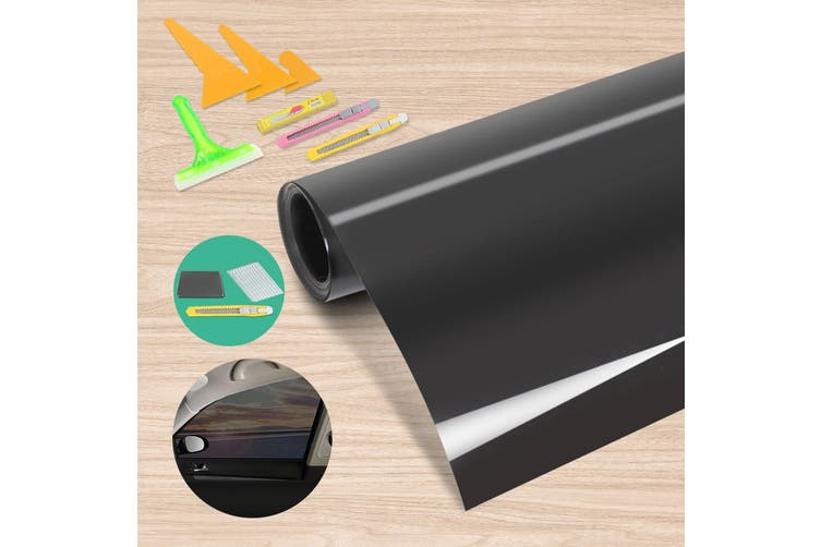 Giantz Window Tint Film Black Roll 15% VLT Car Auto Home 76cm X 7m Tinting Tools Kit