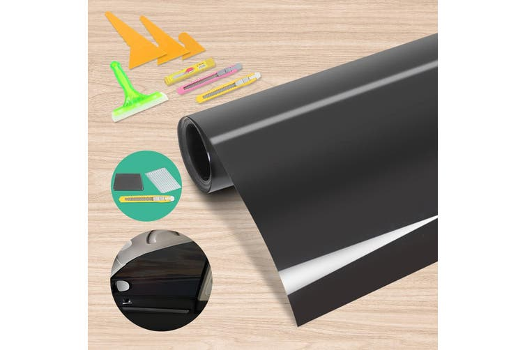 Giantz Window Tint Film Black Roll 5% VLT Car House Home 76cm X 7m Tinting Tools Kit