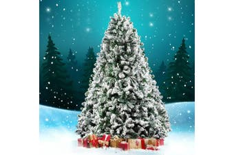 Jingle Jollys Christmas Tree 2.4M 8FT Xmas Decorations Snow Home Decor 1500 Tips