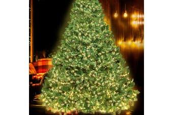 Jingle Jollys 2.4M 8FT Christmas Tree 3190 LED Pre Lights Decorations Warm White