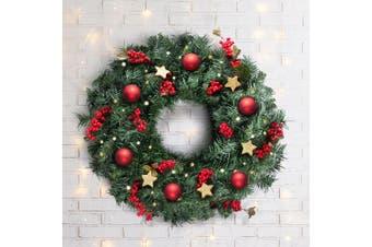 60cm Christmas Wreath Tree Green Garland Hanging Ornaments Decor