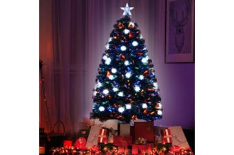 Jingle Jollys 1.5M 5FT LED Christmas Tree Xmas Fibre Optic Multi Colour Lights