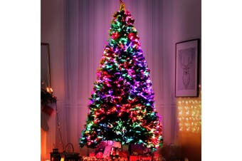 Jingle Jollys 1.8M 6FT LED Christmas Tree Xmas Fibre Optic Multi Colour Lights