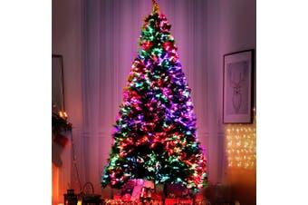 Jingle Jollys 1.8M 6FT LED Christmas Tree Xmas Fibre Optic Multi Colour Lights