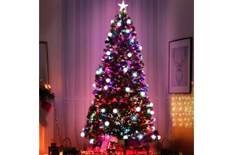Jingle Jollys 1.8M 6FT LED Christmas Tree Xmas Multi Colour Lights Fibre Optic