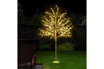 1.5M LED Christmas Tree Branch Twig Fibre Optic Xmas Warm White