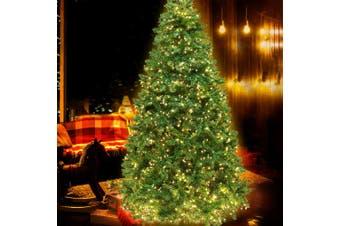 1.8M 6FT Christmas Tree 874 LED Pre Lights Decorations Warm White