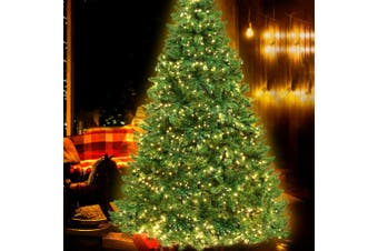 2.1M 7FT Christmas Tree 1134 LED Pre Lights Xmas Decorations Warm White