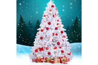 Jingle Jollys White Christmas Tree Xmas Decorations Home Decor 2.1M 7FT Green