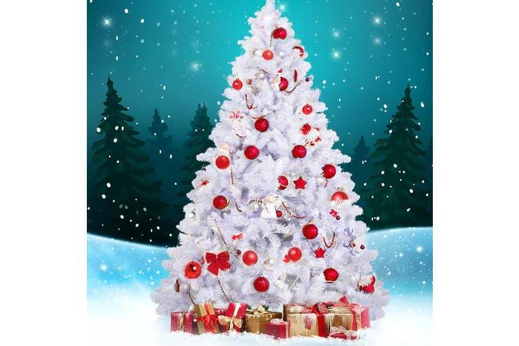 Jingle Jollys White Christmas Tree Xmas Decorations Home Decor 2 1m 7ft Green Matt Blatt