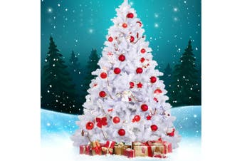 Jingle Jollys 2.4M 8FT White Christmas Tree Xmas Decoration Home Decor 1400 Tips