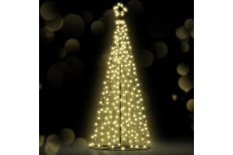 Jingle Jollys 3M LED Christmas Tree Lights 330pc LED Xmas Warm White Fibre Optic