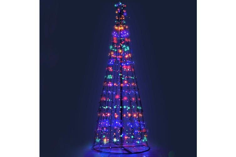 Jingle Jollys 3M LED Christmas Tree Lights Xmas Fibre Optic Multi Colour Pre Lit