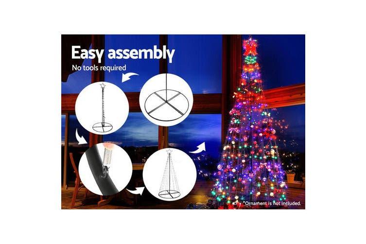 Jingle Jollys 3.6M LED Christmas Tree Lights Xmas Fibre Optic Decor Multi Colour
