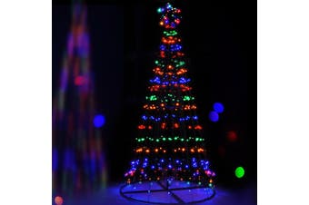 Jingle Jollys 2.1M Christmas Tree LED Lights Xmas Fibre Optic Solar Multi Colour