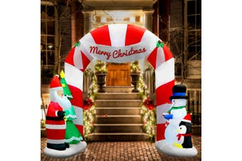 Jingle Jollys Inflatable Christmas 3M Archway with Santa Xmas Outdoor Decor LED