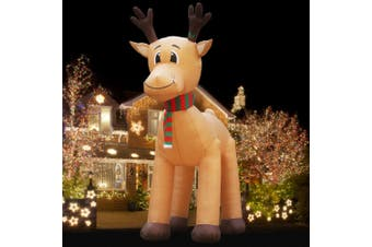 Jingle Jollys Inflatable Christmas Reindeer Xmas Decor LED Light Outdoor Airblown 5M