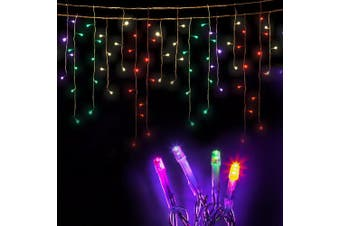 Jingle Jollys LED Christmas Icicle Lights 20M Outdoor Fairy String Party Wedding