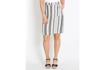 Women's Rockmans Knee Length Multi Stripe Skirt | Bottoms Skirts
