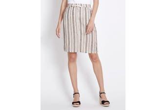 Women's Rockmans Stripe Linen Skirt | Bottoms Skirts