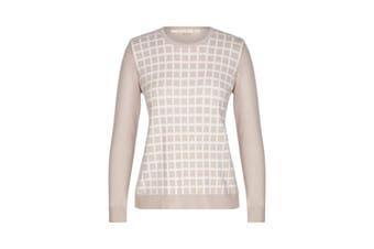 Women's Noni B L/S Vns Check Jumper | Jumper Knitwear
