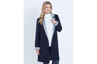 Women's Noni B Longline Lapel Coatigan | Coatigan Knitwear