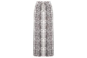 Women's Rockmans Full Length Side Panel Curved Hem Skirt | Bottoms Skirts