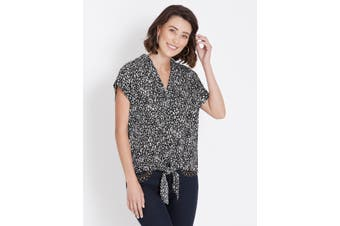 Women's Rockmans Extended Sleeve Tie Front Shirt   Blouses Shirts Tops