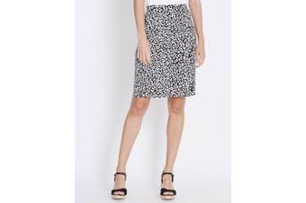 Women's Rockmans Knee Length Textured Stud Ponte Skirt | Bottoms Skirts