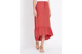 Women's Rockmans Maxi Tiered High Lo Skirt | Bottoms Skirts