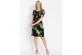 Women's Rockmans Short Sleeve Floral Print Shift Dress   Dresses