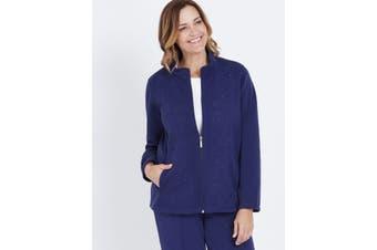 Women's Millers Long Sleeve Emb Zip Through | Active Leisure Wear
