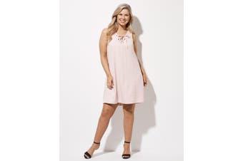 Women's Crossroads Eyelet Neck Swing Dres   Dresses