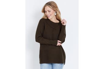 Women's Table 8 Table Eight Roll Neck Zipped Knit |
