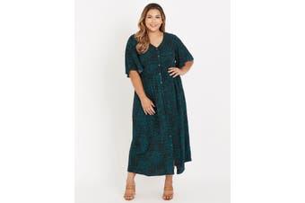Women's Beme Curve Society Short Sleeve Button Front Maxi Dress - Plus Size   Dresses