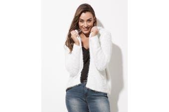 Women's Crossroads Fluffy Hooded Cardi | Cardigans Knitwear
