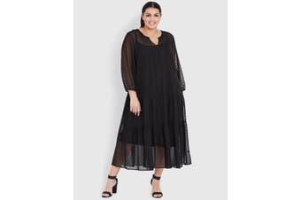 Women's Beme Curve Society Long Sleeve Seamed Maxi Dress - Plus Size   Dresses