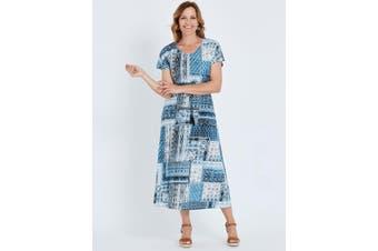 Women's Millers Short Sleeve Moroccan Print Maxi Dress   Dresses