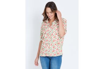 Women's Katies 3/4 Sleeve Cotton  Shirt | Blouses Shirts Tops