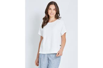Women's Katies Knit Side Button Top |