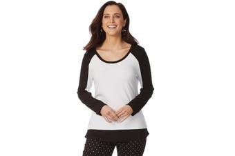 Women's Rockmans Long Sleeve Solid Contrast Top   Tops